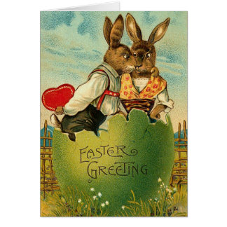 Antique Easter Bunny Card