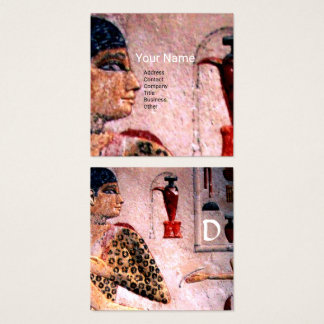 ANTIQUE EGYPT COSMETICS,FASHION & BEAUTY MONOGRAM SQUARE BUSINESS CARD