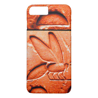 ANTIQUE EGYPTIAN HONEY BEE BEEKEEPER Red iPhone 7 Plus Case
