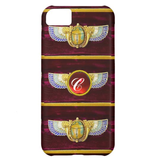 ANTIQUE EGYPTIAN WINGED SCARAB /CORNUCOPIA JEWEL iPhone 5C CASE