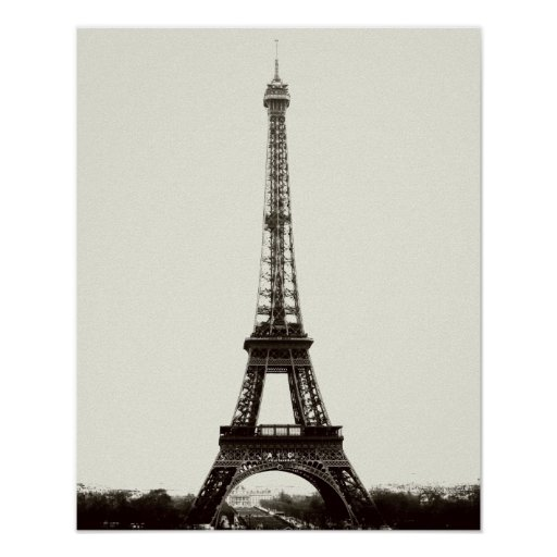 Antique Eiffel Tower Poster