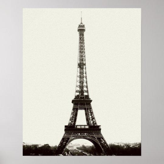 Antique Eiffel Tower Poster