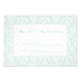 Antique Embroidered Damask Wedding R S V P Cards Announcements