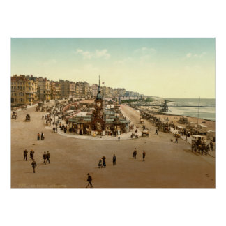 Antique England Aquarium, Brighton Beach U.K. Poster