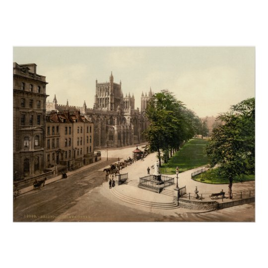 Antique England, College Green, Bristol U.K. Poster