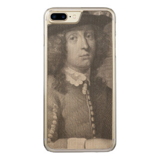 Antique Engraving of a Man with a Beautiful Face Carved iPhone 7 Plus Case