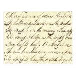 Antique Ephemera Cursive Calligraphy Script Poetry Post Card