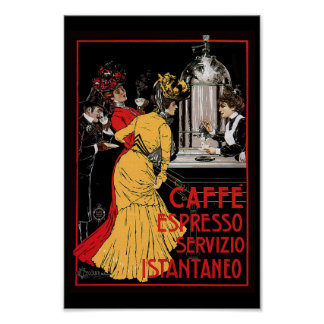 Antique Espresso Expresso Coffee Italian Poster