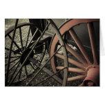Antique Farm Cart Wheels Greeting Cards