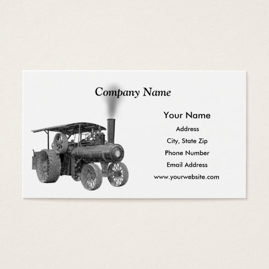 Antique Farm Tractor Business Cards