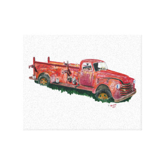 Antique Fire Engine Canvas Print