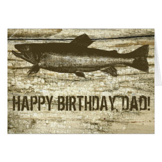 Antique Fish on Vintage Cutting Board Birthday Greeting Card