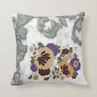 Antique Floral American MoJo Throw Pillows
