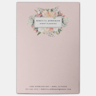 Antique Floral | Blush Pink Post-it Notes