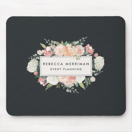 Antique Floral Logo | Blush & Charcoal Mouse