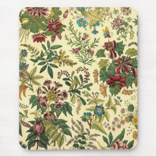 Antique Floral Mouse Pad