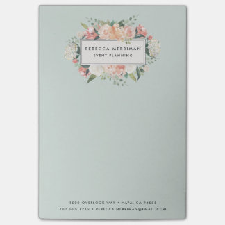 Antique Floral | Sage Green Post-it Notes