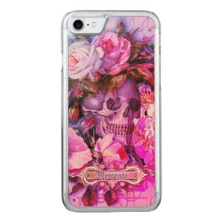 Antique Floral Skull Vibrant Carved iPhone 8/7 Case