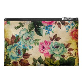Antique Floral Travel Accessories Bags