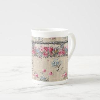 Antique Floral Wallpaper Bone China Mug