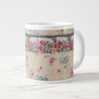 Antique Floral Wallpaper Jumbo Mug