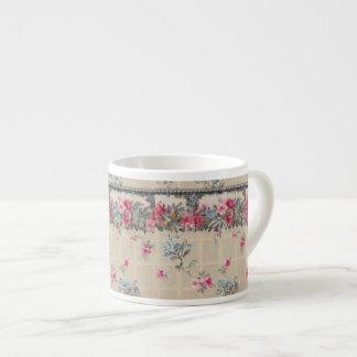 Antique Floral Wallpaper Espresso Mug