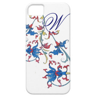 ANTIQUE FLORENTINE FLORAL MOTIFS MONOGRAM BARELY THERE iPhone 5 CASE