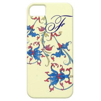 ANTIQUE FLORENTINE FLORAL MOTIFS MONOGRAM,Cream Case For The iPhone 5