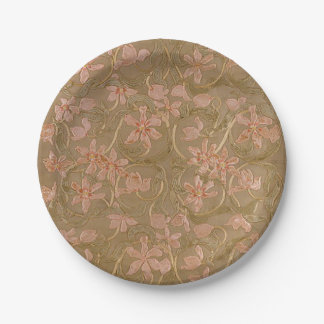"Antique Flowers  7""or 9"" - Paper Plate"