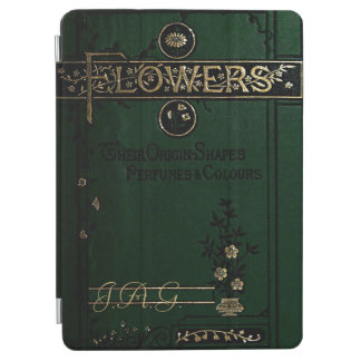 Antique Flowers Book Cover In Green iPad Air Cover