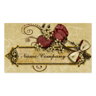 Antique Flowers Pack Of Standard Business Cards