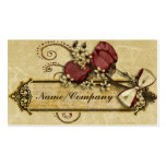 Antique Flowers Business Card Templates