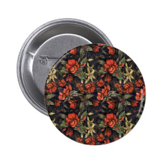Antique Flowers by Alexandra Cook aka Linandara 6 Cm Round Badge
