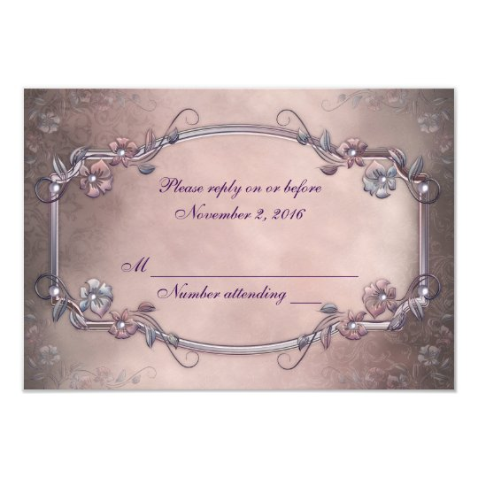 Antique Frame RSVP Card