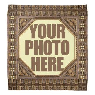 Antique Frame with YOUR PHOTO custom bandana