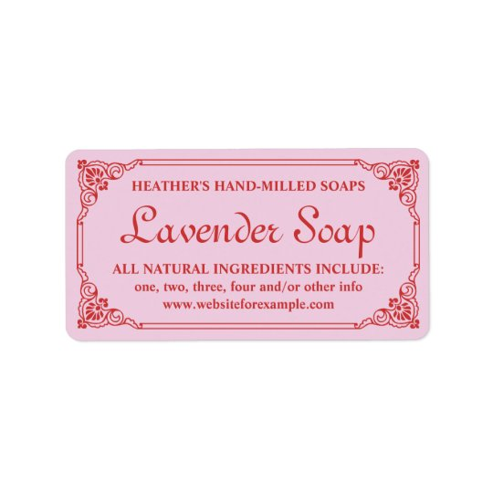 Antique French Border Lavender Soap Label Template Address