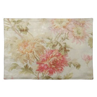 Antique French Floral Toile Placemat
