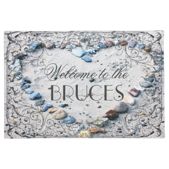 Antique French Frame Personalised Beach House Doormat