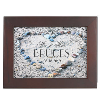 Antique French Frame Personalized Beach Wedding Memory Box