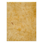 Antique French Paper Parchment Background Texture Poster