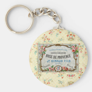 Antique French Rose Advertisement Key Chains