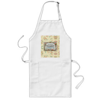 Antique French Rose Advertisement Long Apron