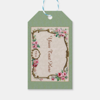 Antique French Rose Perfume Blank Gift Tags