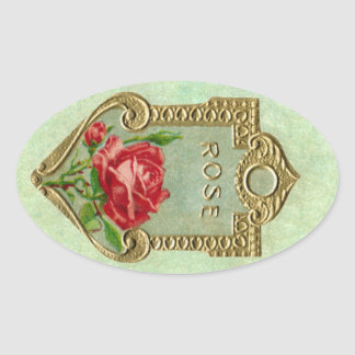 Antique French Rose Perfume Sticker
