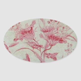 Antique French Toile Oval Sticker