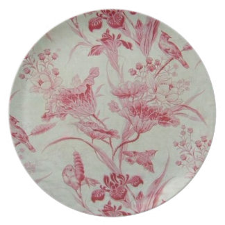 Antique French Toile Plate