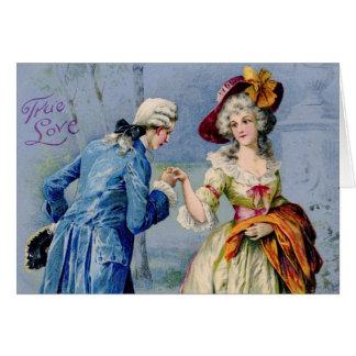 Antique French True Love Valentine Card