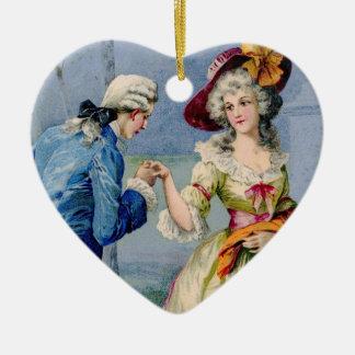 Antique French True Love Valentine Ornament
