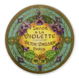 Antique French Violet Perfume Drawer Pull