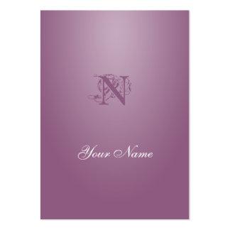 Antique fuchsia Elegant Style Business Card Template